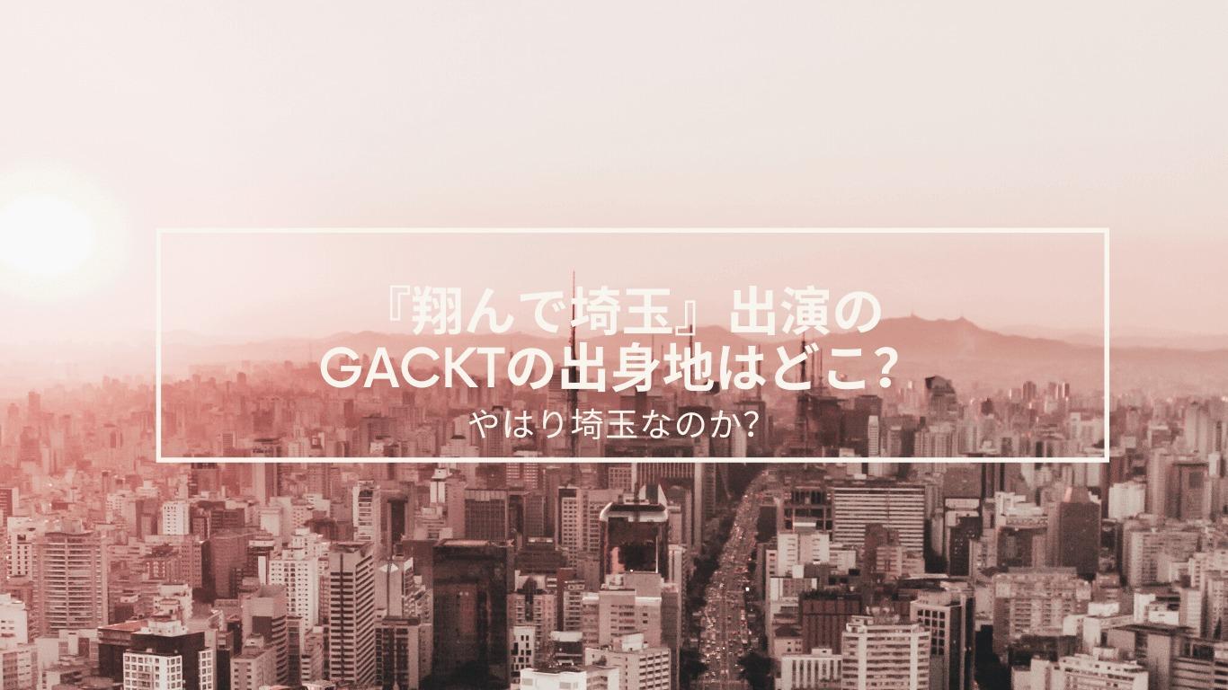 翔んで埼玉,GACKT,出身地,実写化,ノーカット