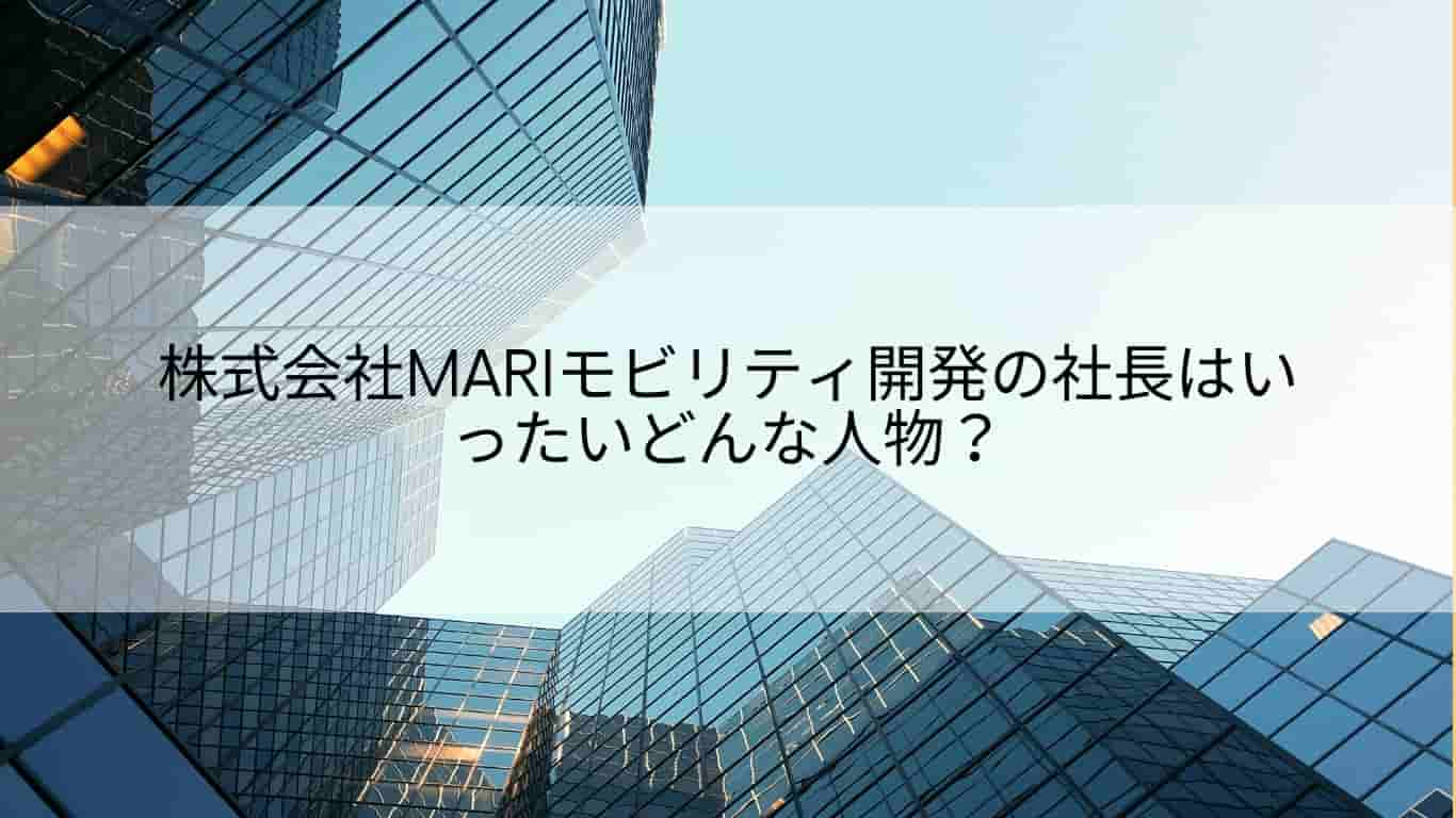 mariモビリティ開発,社長,会社概要,山崎