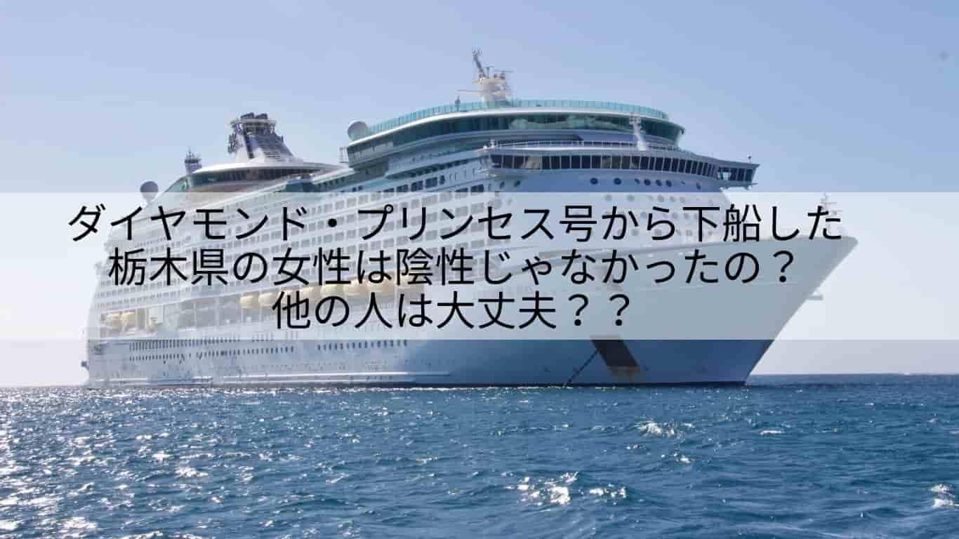 下船,栃木,ダイヤモンド・プリンセス号,陰性,ウイルス検査