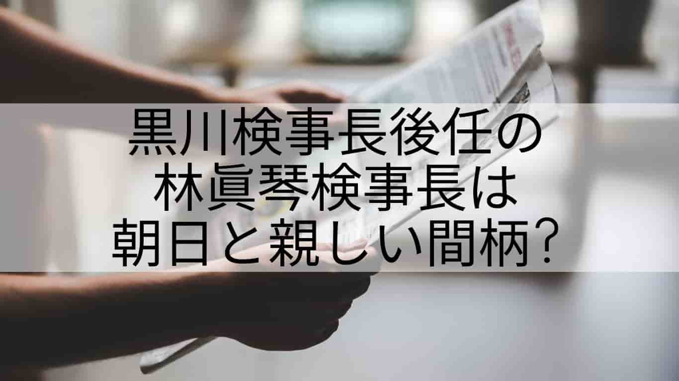 林眞琴,経歴,朝日新聞